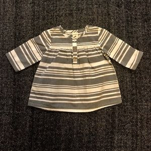 Carters striped cotton dress size 12m